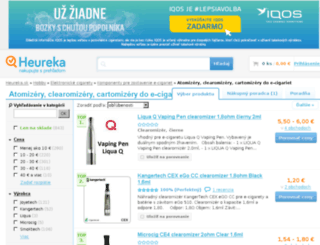 atomizery-e-cigariet.heureka.sk screenshot