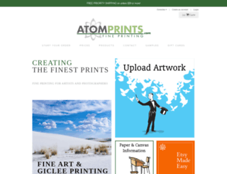 atomprints.artstorefronts.com screenshot