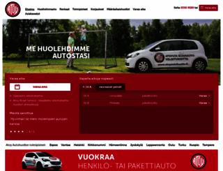 atoyautohuolto.fi screenshot
