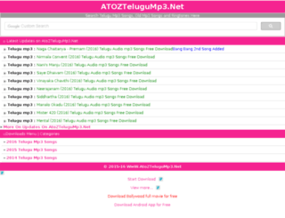 atoztelugump3.net screenshot