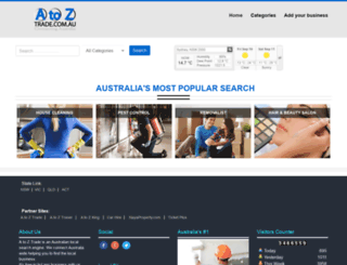 atoztrade.com.au screenshot