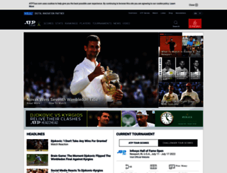 atptour.com screenshot