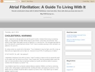 atrial-fib.blogspot.com screenshot