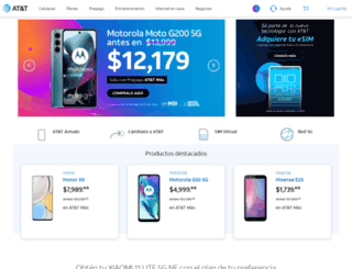att.com.mx screenshot