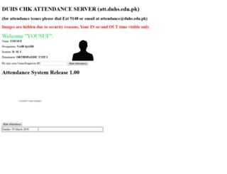 att.duhs.edu.pk screenshot