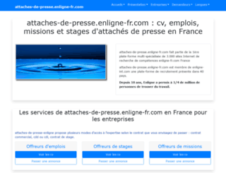 attaches-de-presse.enligne-fr.com screenshot
