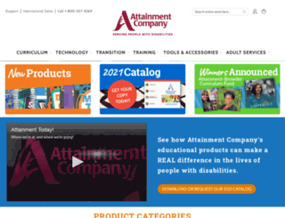 attainmentcompany.com screenshot