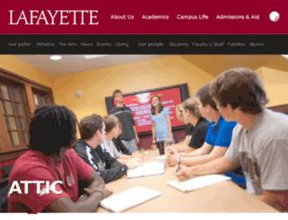 attic.lafayette.edu screenshot