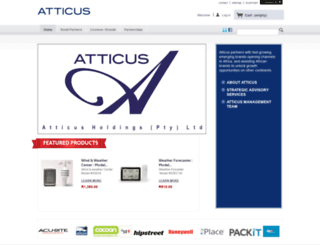 atticus.co.za screenshot