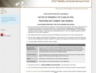 attmuscsettlement.com screenshot