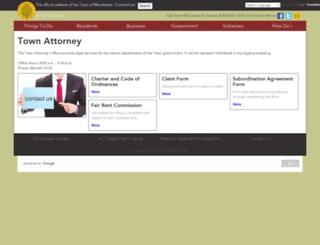 attorney.townofmanchester.org screenshot