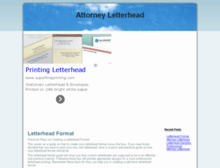 attorneyletterhead.net screenshot