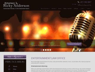 attorneyrickyanderson.com screenshot