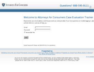 attorneysforconsumers.com screenshot