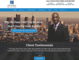 attorneytonyadderley.com screenshot