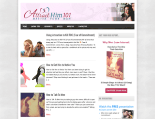 attracthim101.com screenshot