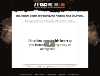 attractingtheone.com screenshot