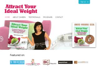 attractyouridealweight.com screenshot