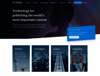 atypon.com screenshot