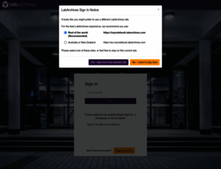 au-mynotebook.labarchives.com screenshot