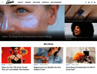 au.glam.com screenshot