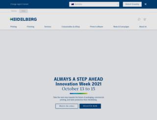 au.heidelberg.com screenshot
