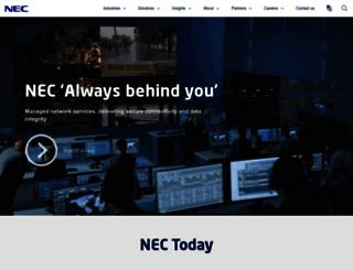 au.nec.com screenshot