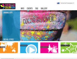 au.thecolorrun.com screenshot