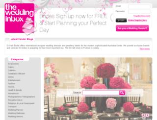 au.theweddinginbox.com screenshot