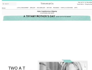 au.tiffany.com screenshot