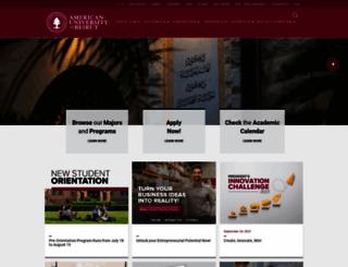 aub.edu.lb screenshot