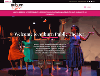 auburnpublictheater.org screenshot
