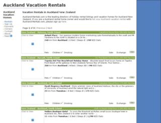 auckland-rentals.com screenshot