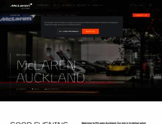 auckland.mclaren.com screenshot