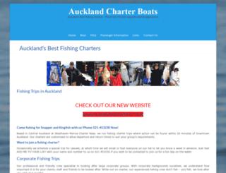 aucklandcharterboats.co.nz screenshot