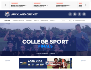 aucklandcricket.co.nz screenshot