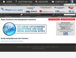auction.repocast.com screenshot