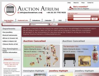 auctionatrium.com screenshot