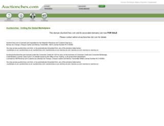 auctionchex.com screenshot
