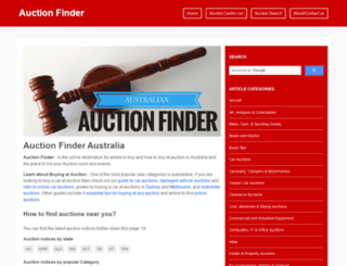 auctionfinder.com.au screenshot