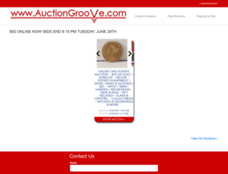 auctiongroove.com screenshot