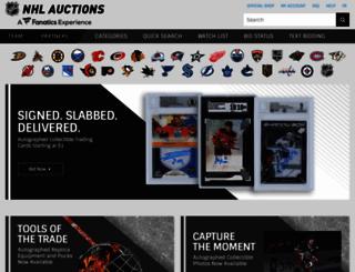 auctions.nhl.com screenshot