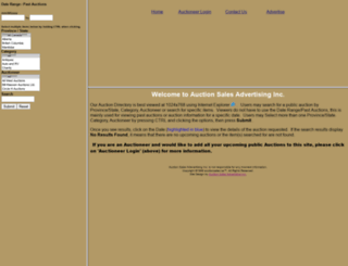 auctionsales.ca screenshot