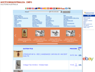 auctionsaustralia.info screenshot
