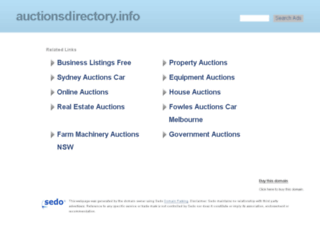 auctionsdirectory.info screenshot