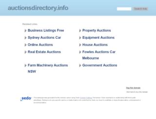 auctionsdirectory.info screenshot