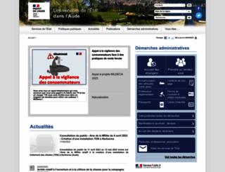 aude.pref.gouv.fr screenshot