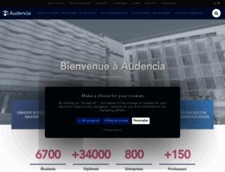 audencia.com screenshot