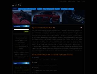 audi-a5.webnode.cz screenshot