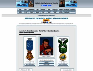 audiemurphy.com screenshot